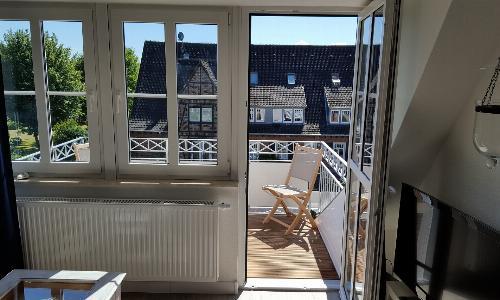 ... Zugang zum Balkon